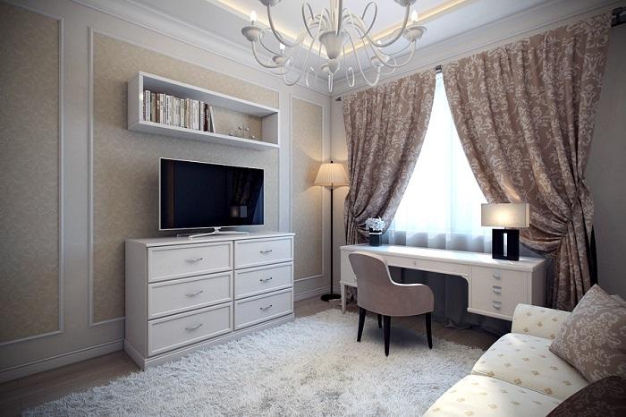 Лаконичный комод хорошо смотрится в классическом интерьере. / Фото: dizainexpert.ru