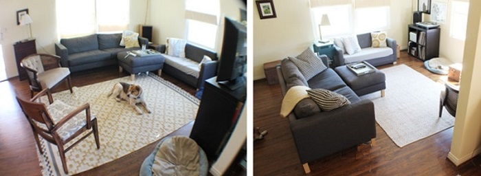 Периодически меняйте местами мебель в комнате. / Фото: blog.postel-deluxe.ru