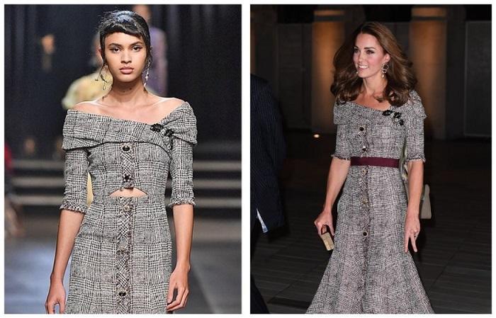 Кейт в переделанном дизайнерском платье