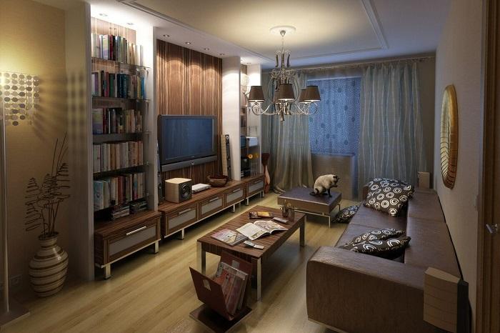 Большое количество мебели не оставляет места для маневров. / Фото: Homius.ru