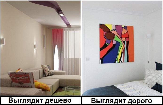 Абстрактная картина украсит интерьер