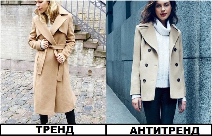 Короткое пальто не сможет защитить от холода
