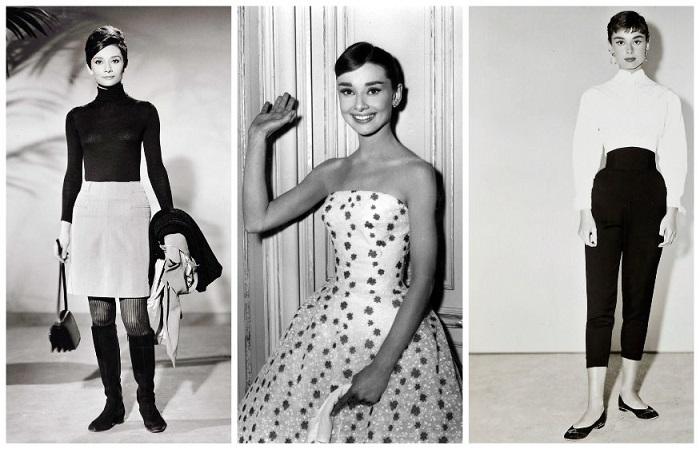 Одри Хепберн ввела в моду укороченные брюки, черные водолазки и коктейльные платья