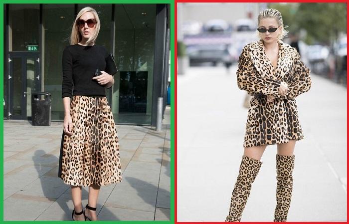 В образе должна быть лишь одна леопардовая вещь