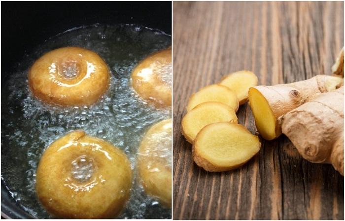Кусочек имбиря поможет избавить масло от вкуса первого блюда