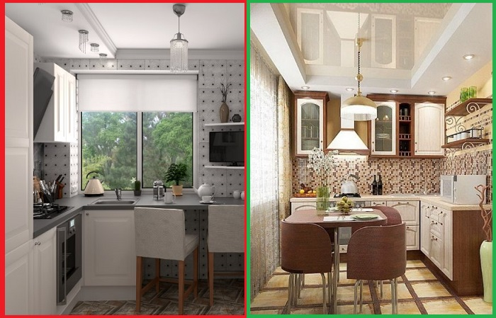Цвет дерева добавляет кухне уюта