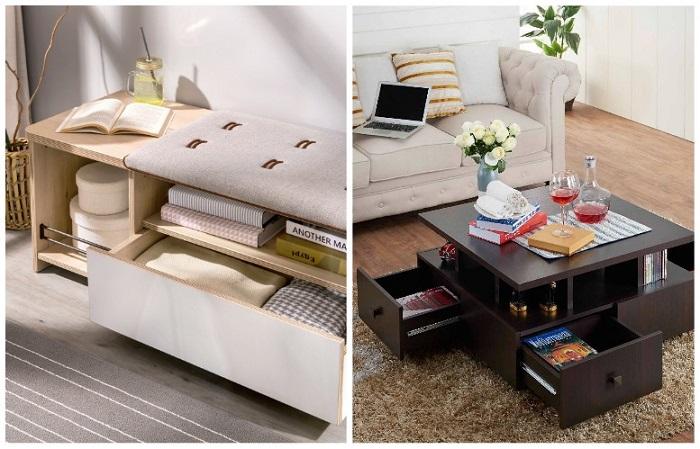 Выбирайте мебель <br>с местом для хранения