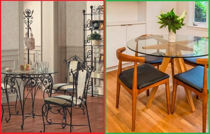 Один стеклянный столик лучше большого количества кованной мебели
