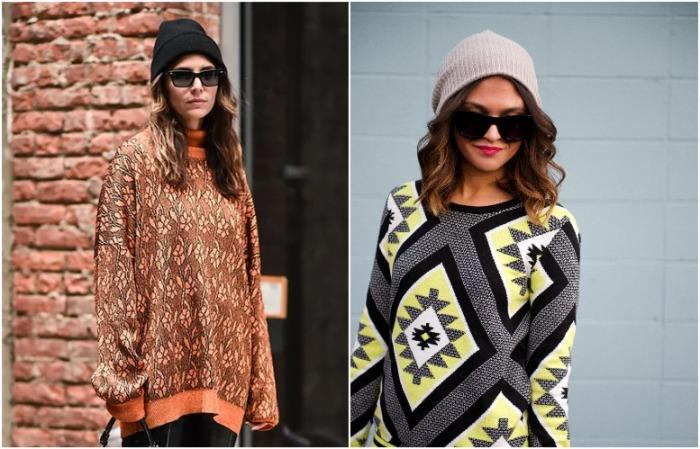 Когда на улице тепло, можно ограничиваться свитером и бини