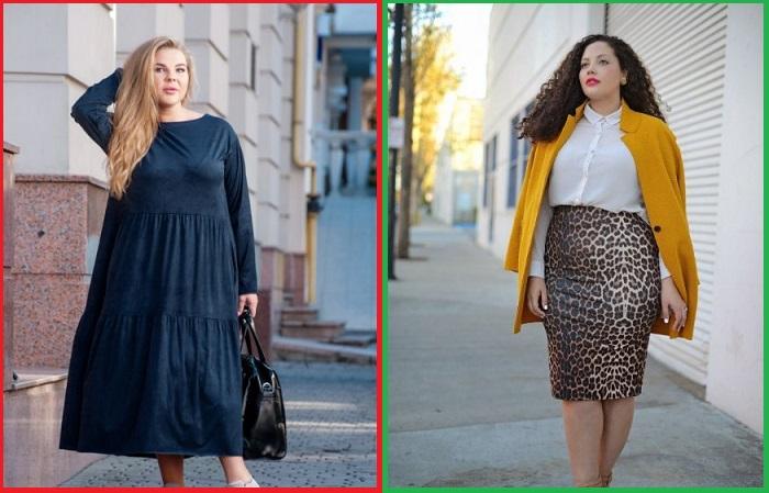 Вместо бесформенного балахона лучше надеть юбку-карандаш и удлиненный пиджак