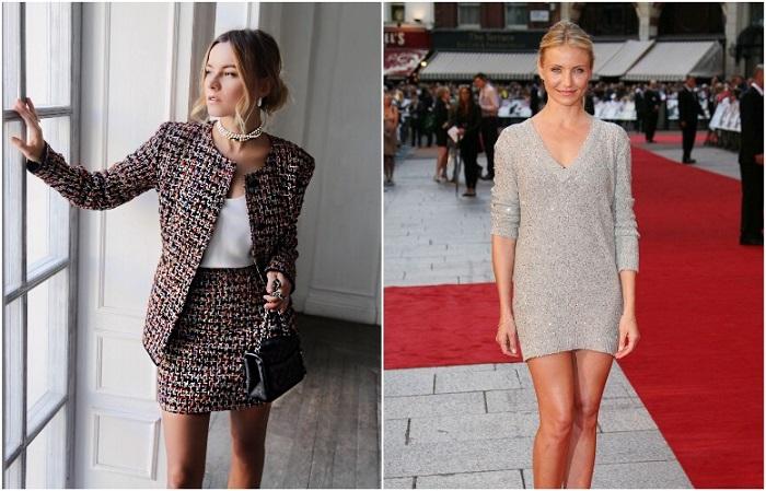 Юная девушка может выглядеть красиво в твидовом костюме, а взрослая женщина - в коротком платье