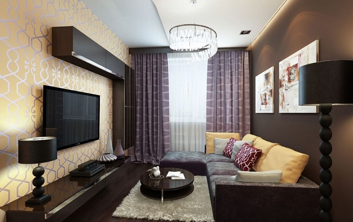 Темная мебель делает крохотную комнату еще меньше. / Фото: Dekormyhome.ru