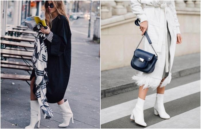 Белая обувь подходит для сухой и солнечной погоды