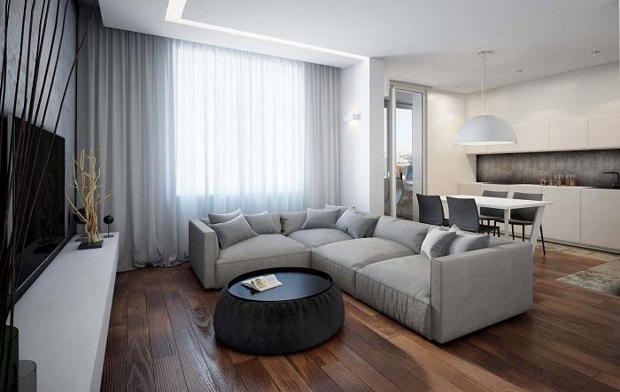 В однушку нужно купить минимум мебели. / Фото: dekoriko.ru