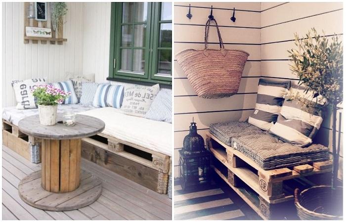 Мебель из деревянных поддонов - это модно и экологично