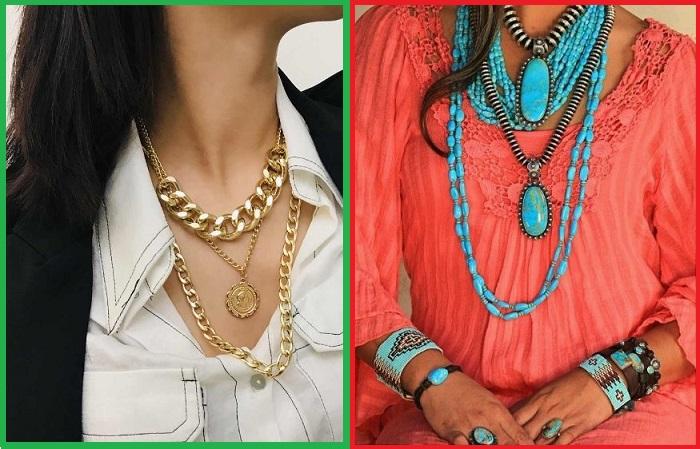 Ожерелья должны гармонично сочетаться между собой