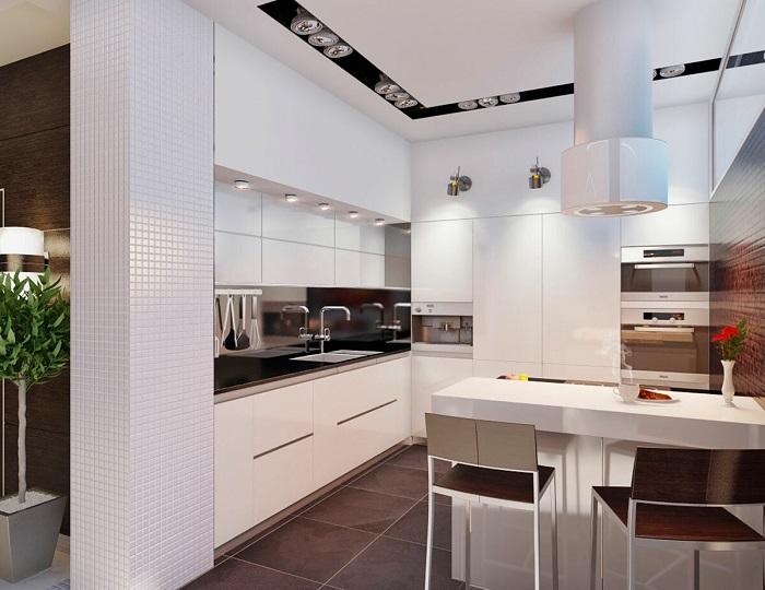 Белые кухни будут в моде еще много лет. / Фото: remontbp.com