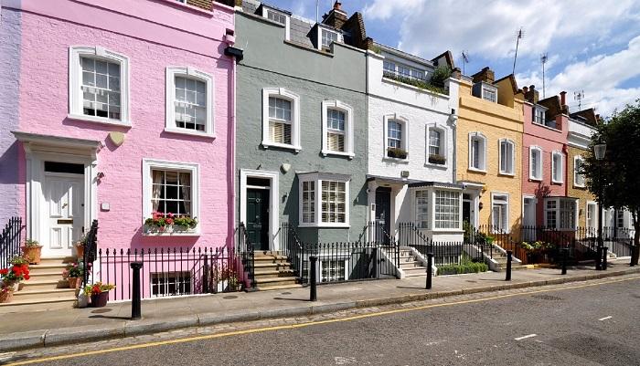 Большинство домов в Великобритании террасные. / Фото: mrrestavrator.ru