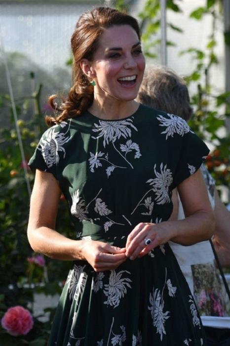 Кейт Миддлтон на выставке цветов в Челси в платье от Rochas за 2 007$. / Фото: womanadvice.ru