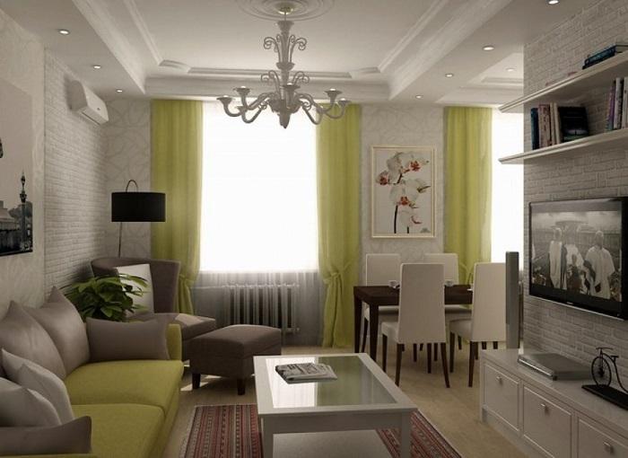 Объедините кухню с гостиной. / Фото: bucwar.ru