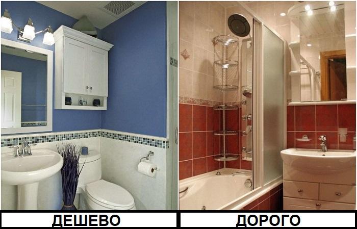 Краска для отделки ванной обойдется дешевле, чем плитка