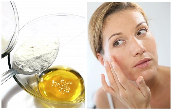 Смесь муки и меда помогает устранить воспаления на коже
