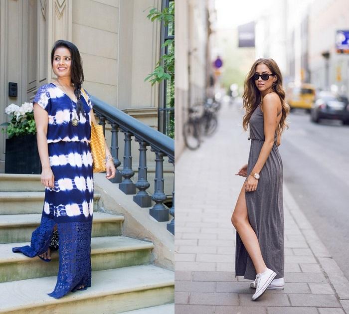 Платье-макси - прекрасный выбор, если вы хотите создать романтичный и непринужденный образ. / Фото: fb.ru
