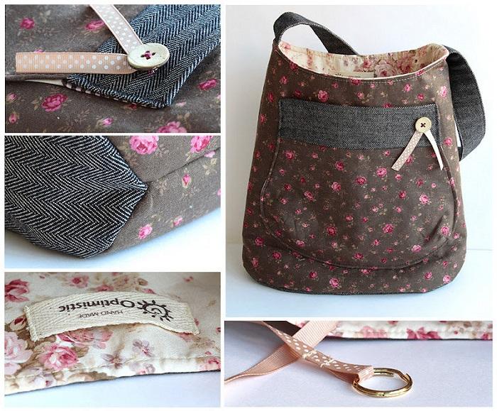 Повседневная сумка своими руками. / Фото: liveinternet.ru