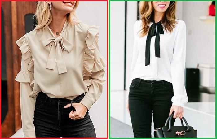 Блузки должны быть максимально лаконичными и аккуратными