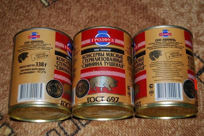 Тушенка хранится до четырех лет. / Фото: liveinternet.ru