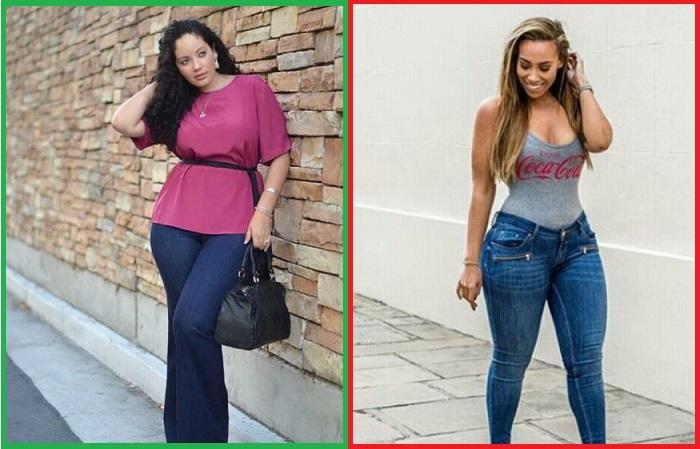 Девушкам с широкими бедрами противопоказаны скинни, зато джинсы клеш смотрятся отлично