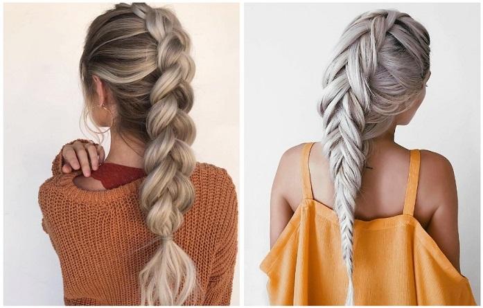 Вместо объемных причесок и укладок плетите косы