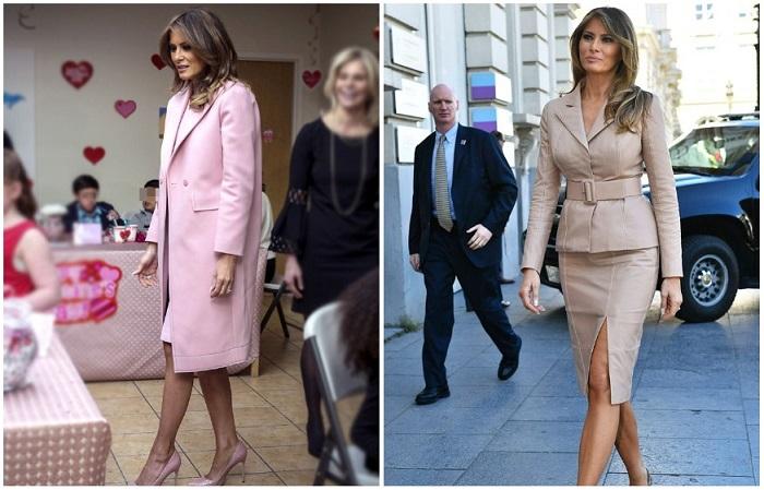 Нежно-розовый и бежевый - фавориты первой леди США