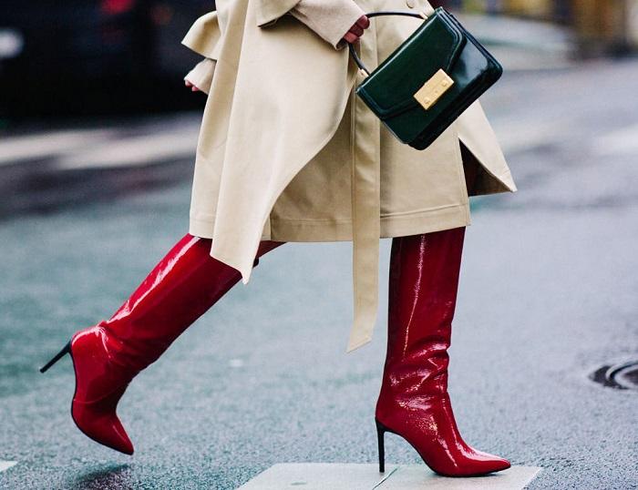 Сапоги на шпильке не подходят для холодного времени года. / Фото: pinterest.ru