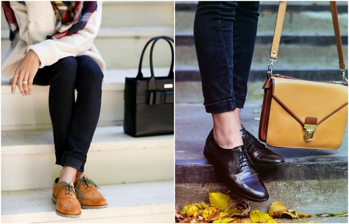 Оксфорды - экстравагантные и грубые ботинки со шнуровкой
