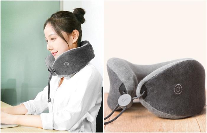 Подушка-массажер надевается на шею