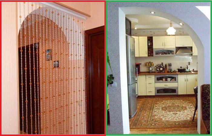 Дверные шторы с «висюльками» ассоциируются с советским интерьером