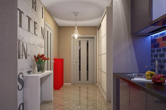 Объединять коридор с кухней - не самая хорошая идея. / Фото: mykaleidoscope.ru