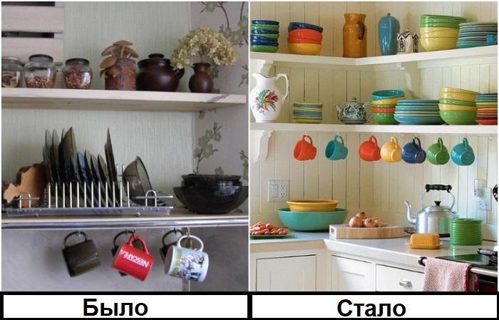 Добавляйте яркости интерьеру с помощью посуды