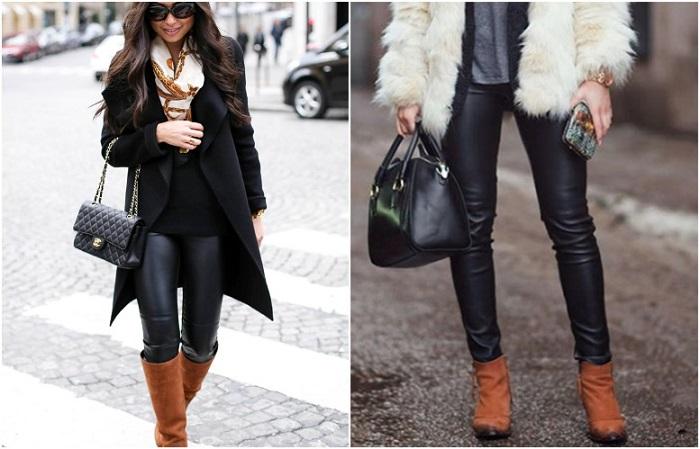 Кожаные брюки отлично сохраняют тепло