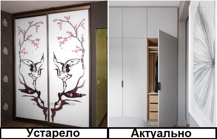 Если комната большая, распашной шкаф будет более уместным