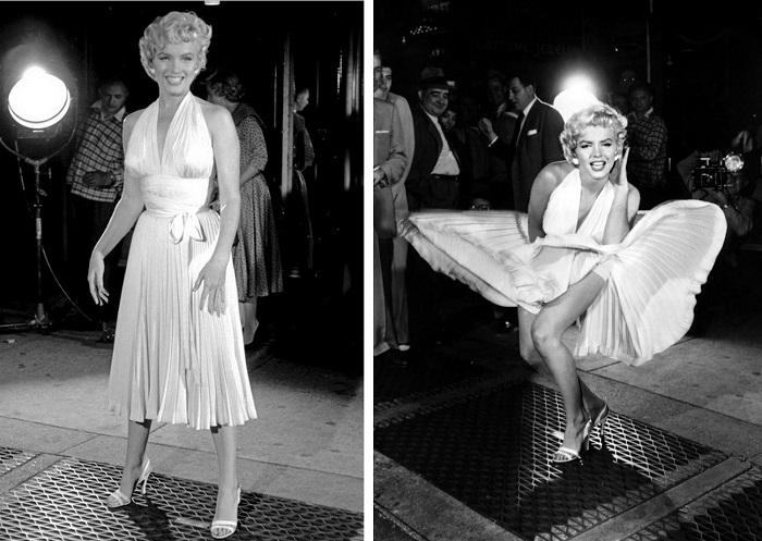 Знаменитое белое платье Мэрилин Монро. / Фото: Kakprosto.ru