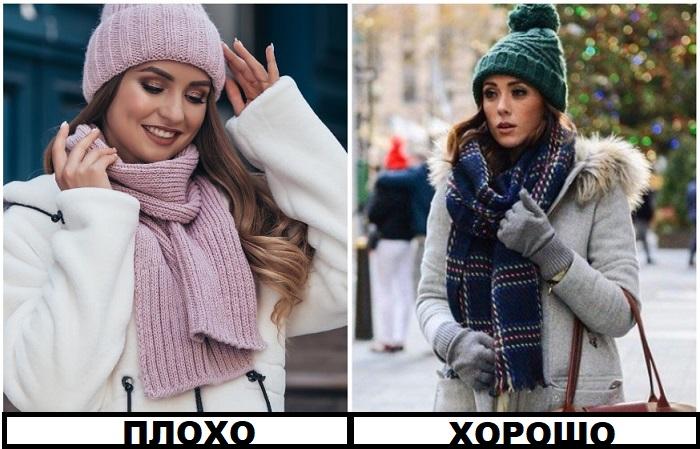 Шарф лучше покупать отдельно от шапки
