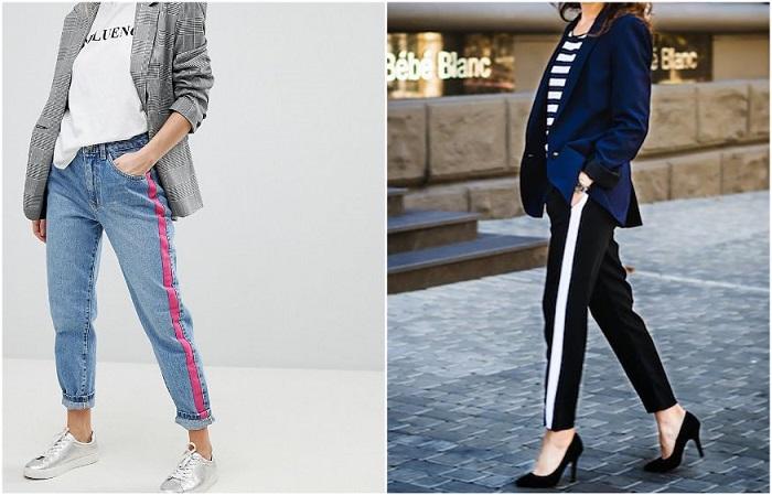 Брюки и джинсы с лампасами вышли из моды