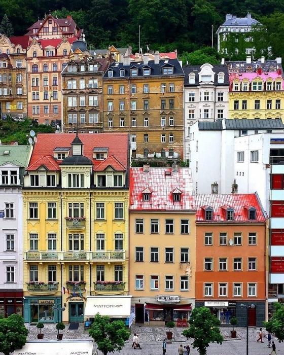 В Чехии яркие и красивые дома