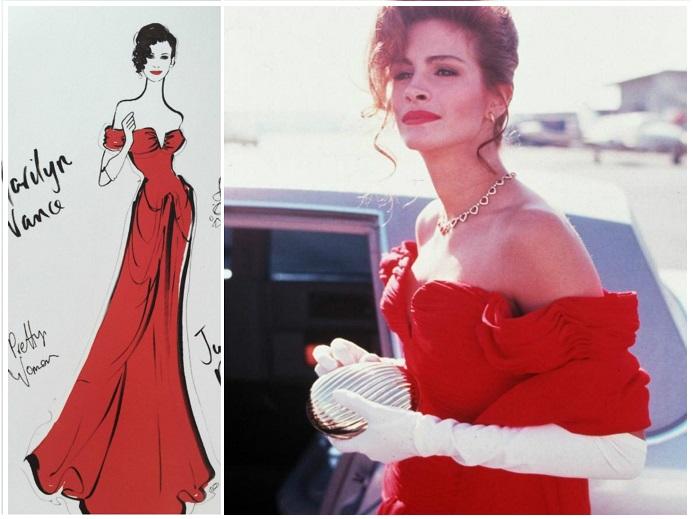 Знаменитое красное платье Вивьен надевала в оперу. / Фото: pinterest.ru