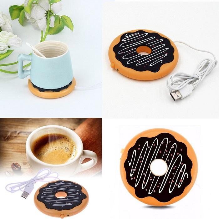 USB-нагреватель для кружки поможет избежать остывания напитка. / Фото: 4todarit.ru