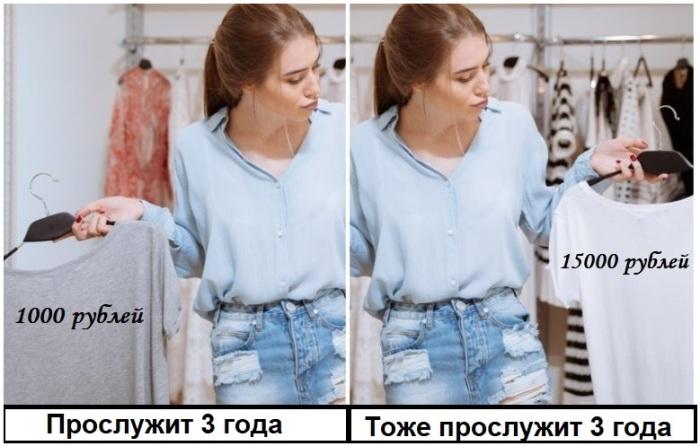 Срок годности одежды во многом зависит от частоты ее использования