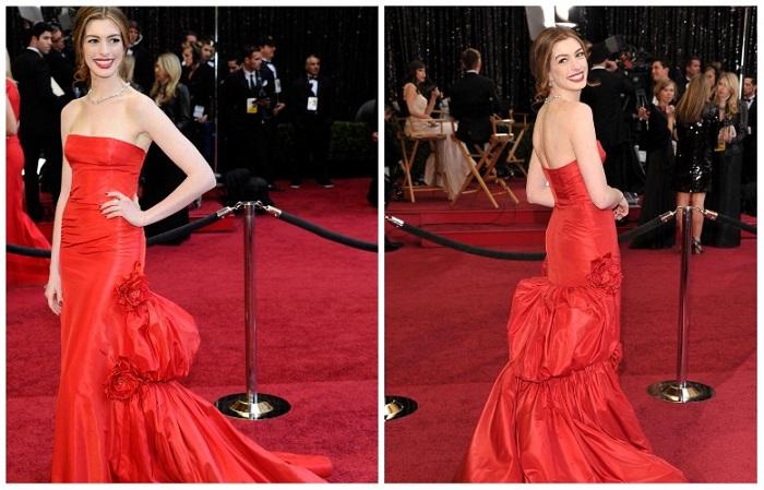 Энн Хэтэуэй в платье от Valentino за 80 тысяч долларов