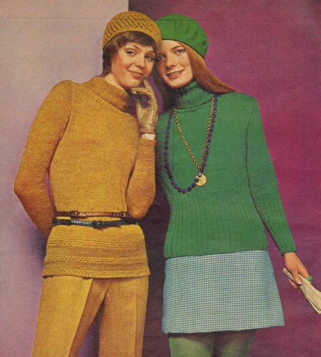 Советские модницы в вязаных беретах. / Фото: Babyblog.ru